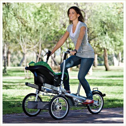 fahrrad mit kinderwagen